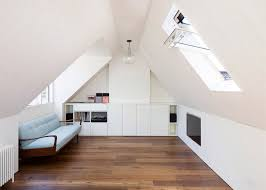attic converted to a bedroom in South London